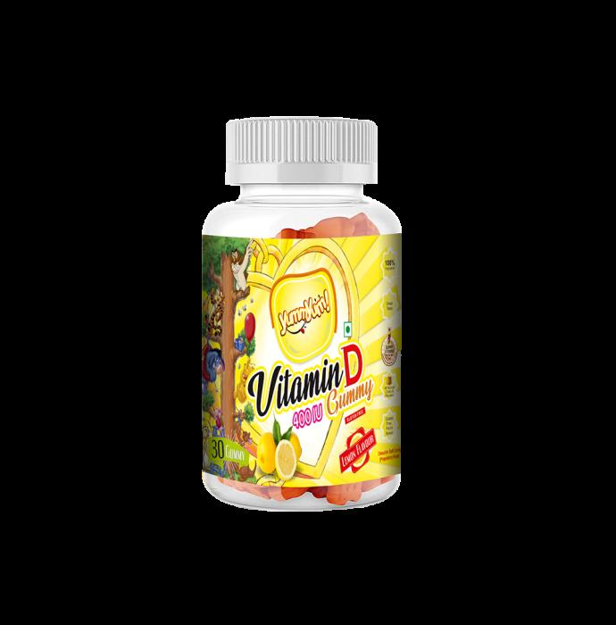 Yummyum Vitamin D 400IU Gummy Lemon Gluten Free