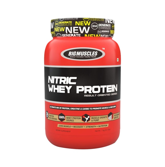 Big  Muscles Nitric Whey Cookies & Cream