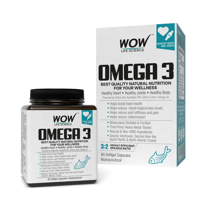 WOW Life Science Omega 3 Softgel Capsule