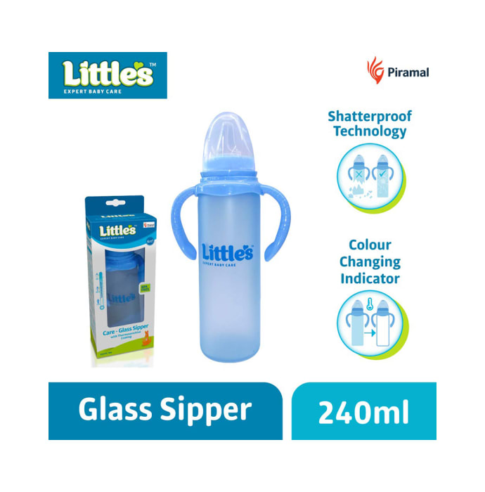 Little's Care -Glass Sipper Blue