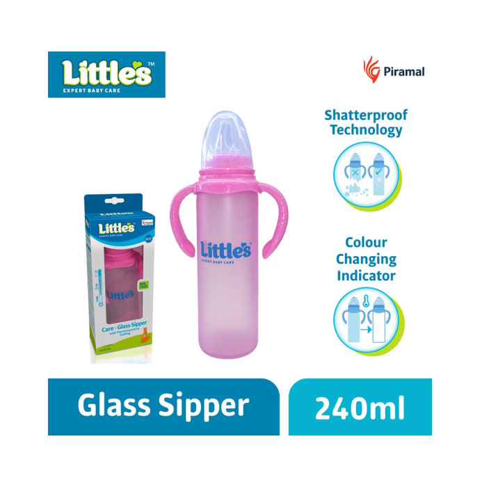 Little's Care -Glass Sipper Pink