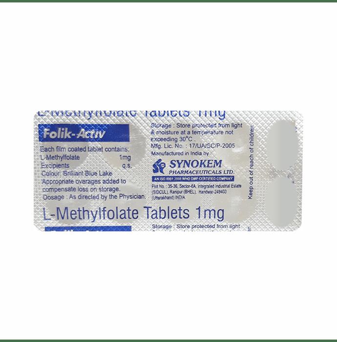 Folik Activ 1mg Tablet