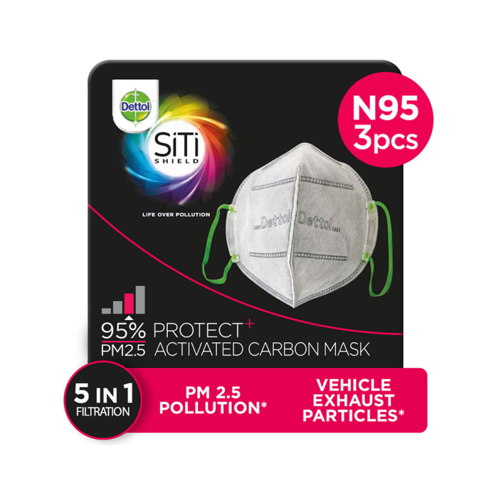 Dettol SiTi Shield Carbon Activated KN95 Air-Pollution Mask