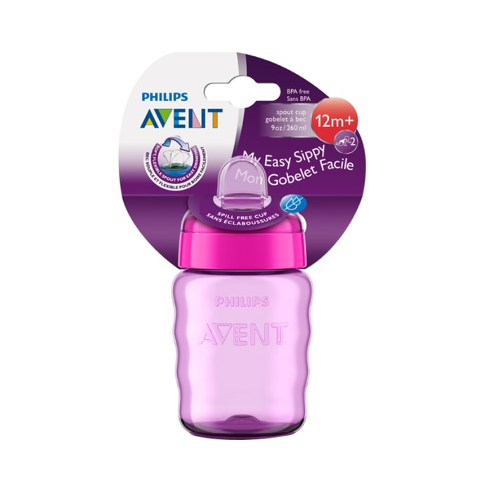 Philips Avent Classic Spout Cup Pink and Purple