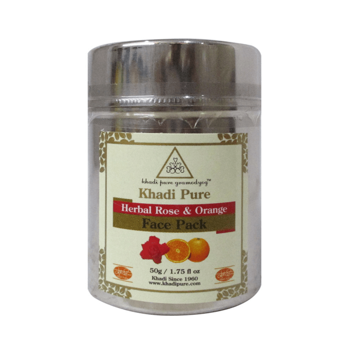Khadi Pure Herbal Rose & Orange Face Pack