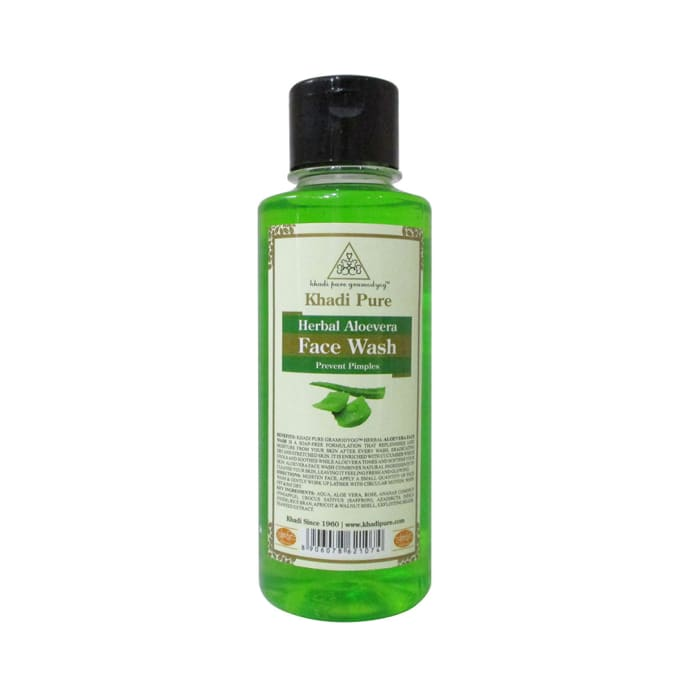 Khadi Pure Herbal Aloevera Face Wash