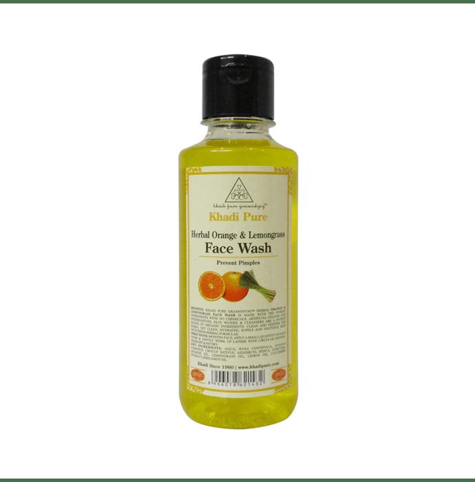 Khadi Pure Herbal Orange & Lemongrass Face Wash