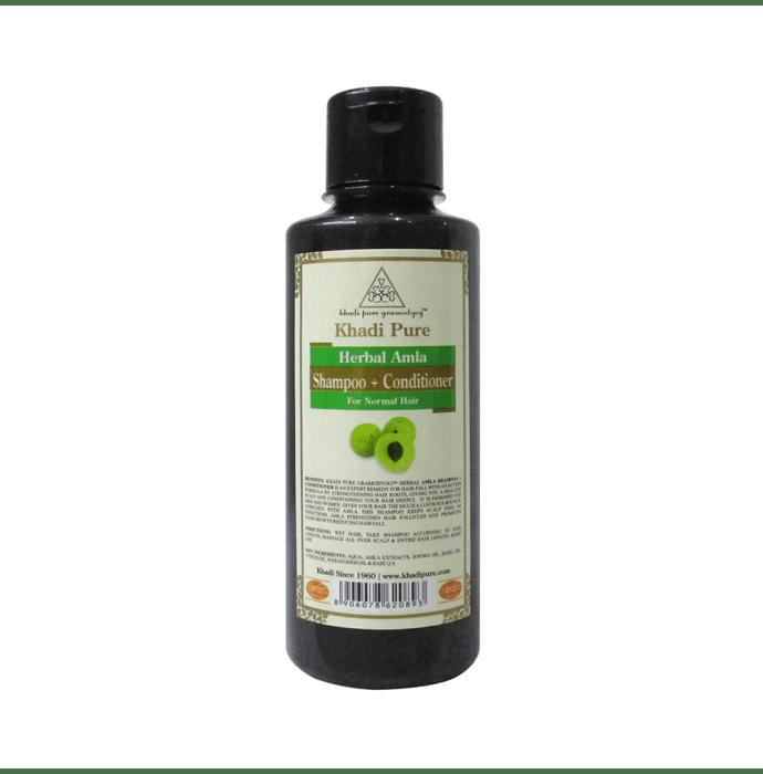 Khadi Pure Herbal Amla Shampoo + Conditioner Plain
