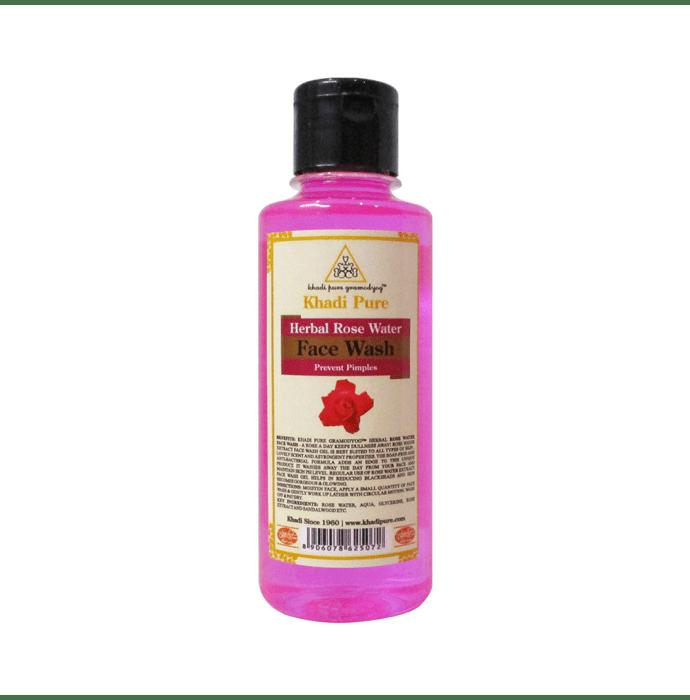 Khadi Pure Herbal Rose Water Face Wash