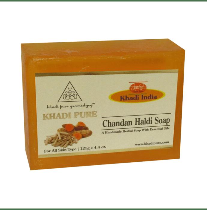 Khadi Pure Herbal Chandan Haldi Soap