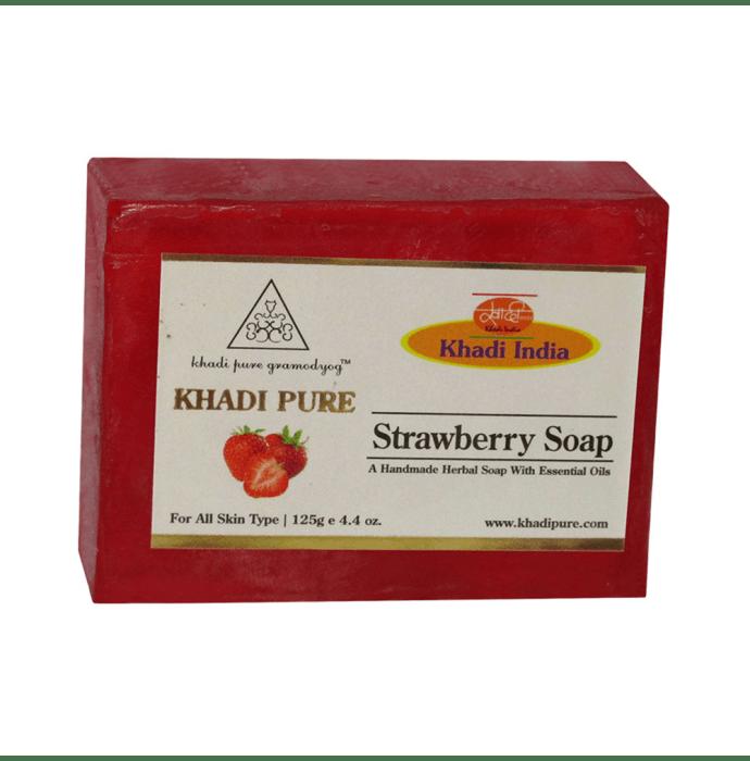 Khadi Pure Herbal Strawberry Soap