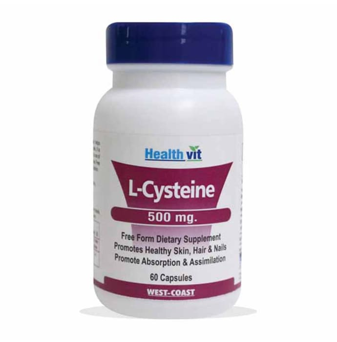 HealthVit L-Cysteine 500mg Capsule