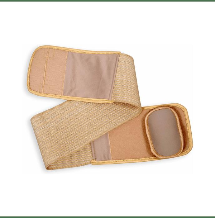 Wonder Care A111 Umbilical Hernia Support Belt - Belly Button Hernia Navel Truss Brace with Foam Pressure Pad XL