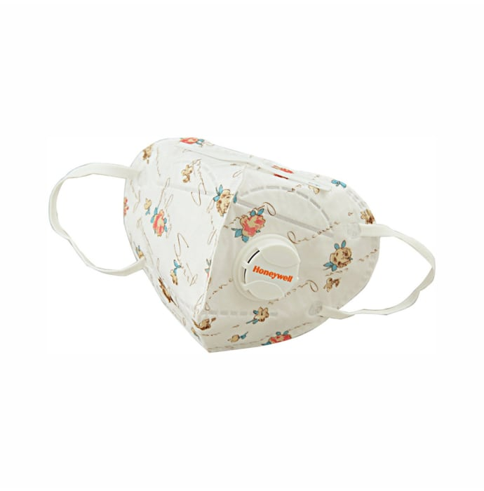 Honeywell ED7051 PM 2.5 Anti Pollution Foldable Face Mask with Exhalation Valve White and Red Printed