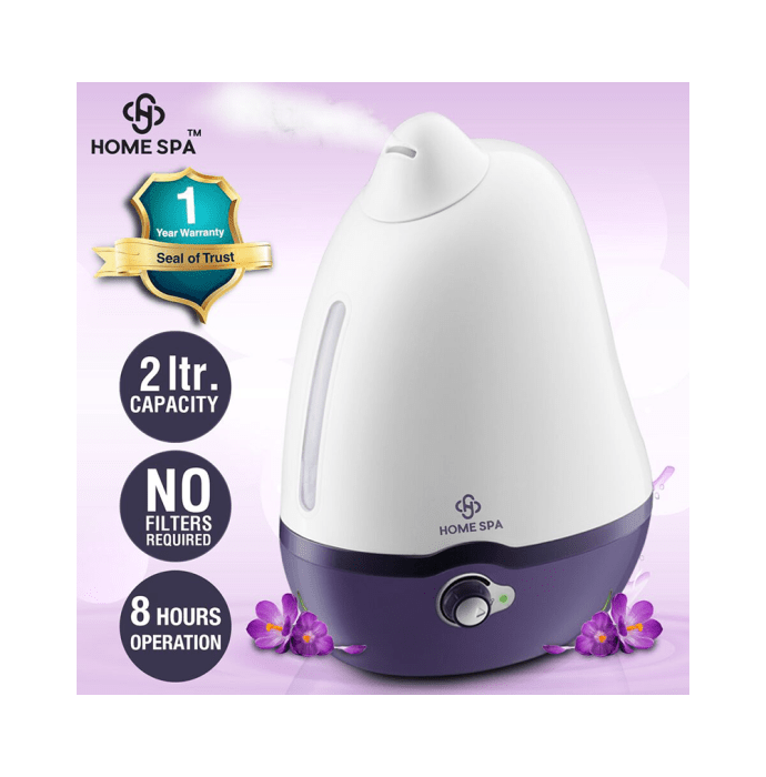 Dr Trust USA Home Spa Luxury Cool Mist Dolphin Humidifier - 2 Litres White