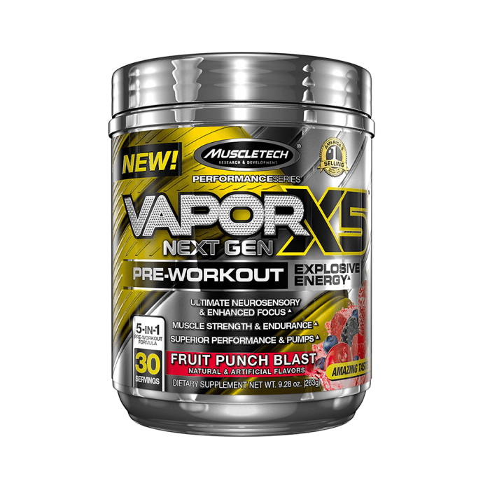 Muscletech Performance Series Vapor X5 Next Gen Pre-Workout Powder Fruit Punch