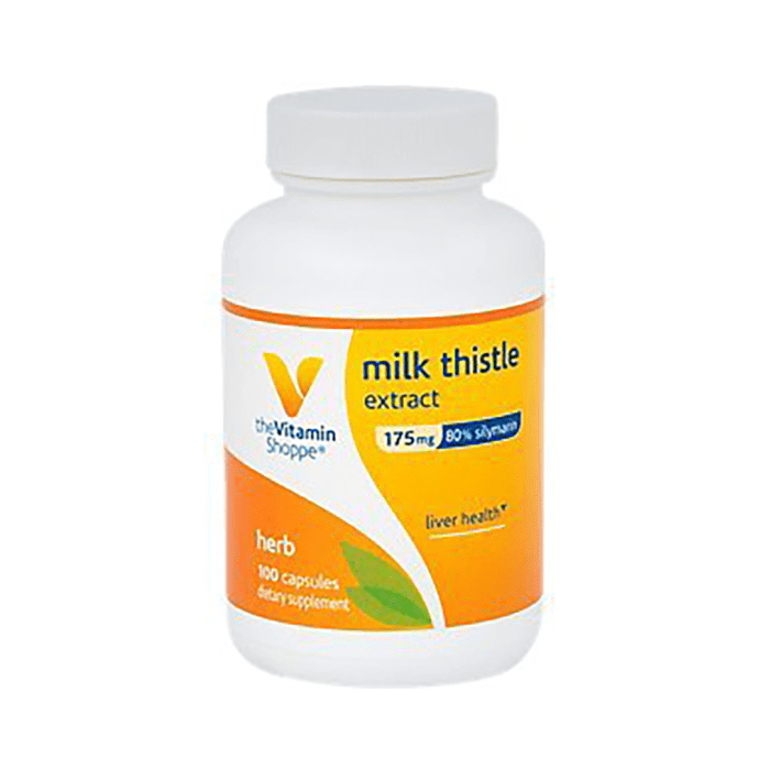 The Vitamin Shoppe Milk Thistle Extract 175mg Capsule
