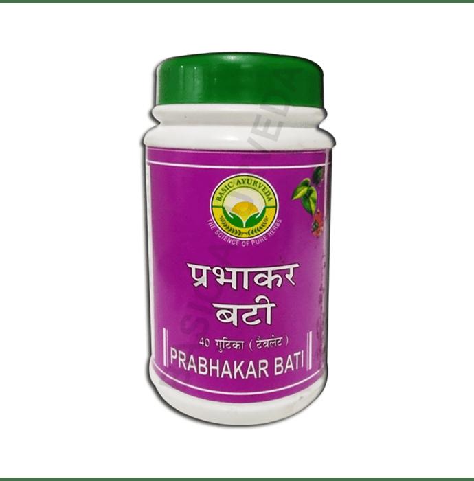 Basic Ayurveda Prabhakar Bati Pack of 2