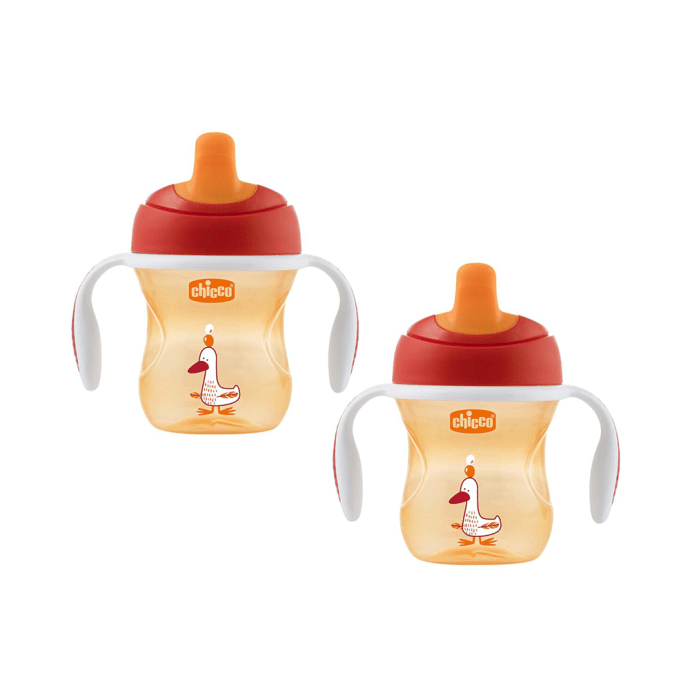 Chicco Training Sipper Cup 6 months Orange Pack of 2