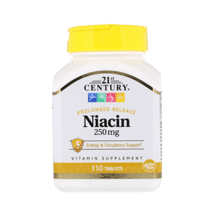 21st Century Niacin 250mg Tablet