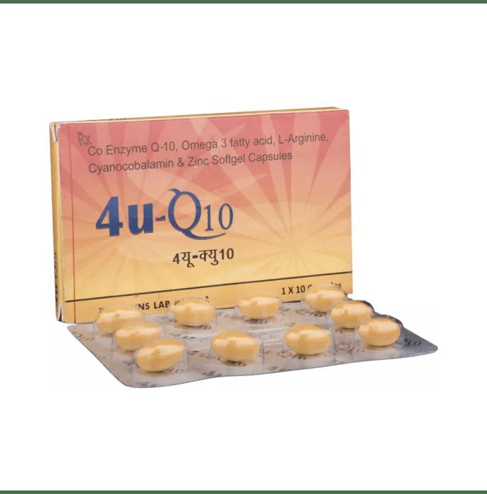 4U Q10 Gold Soft Gelatin Capsule