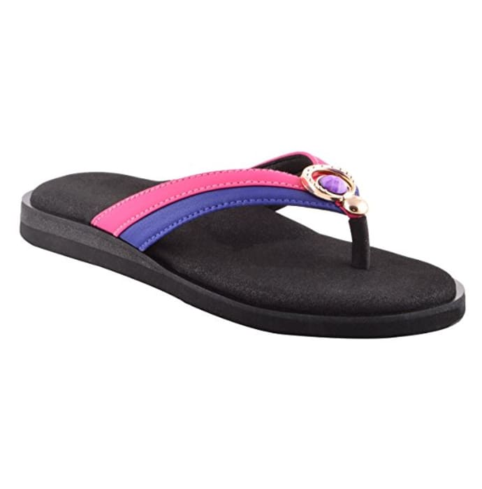 Dia One Orthopedic Sandal Rubber Sole MCP Insole Diabetic Footwear for Women Dia_65 Size 6