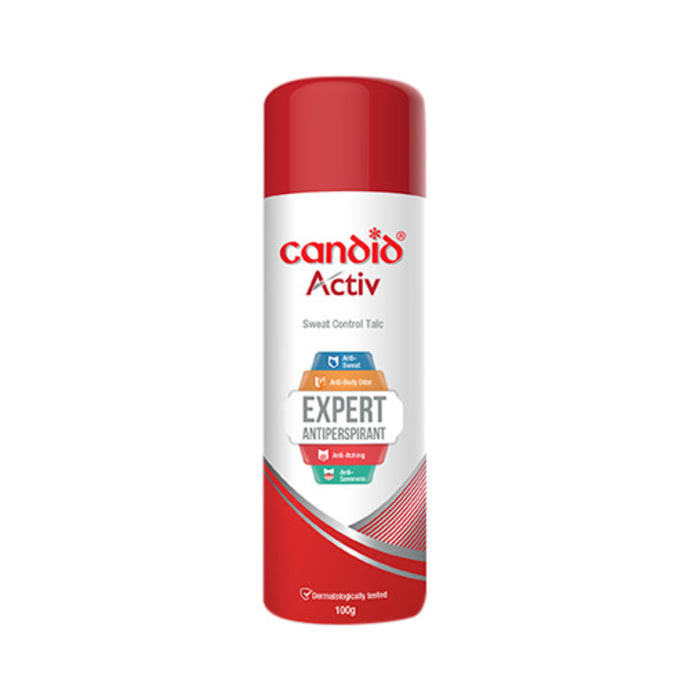 Candid Activ Antiperspirant Sweat Control Talc Buy 2 Get One Free