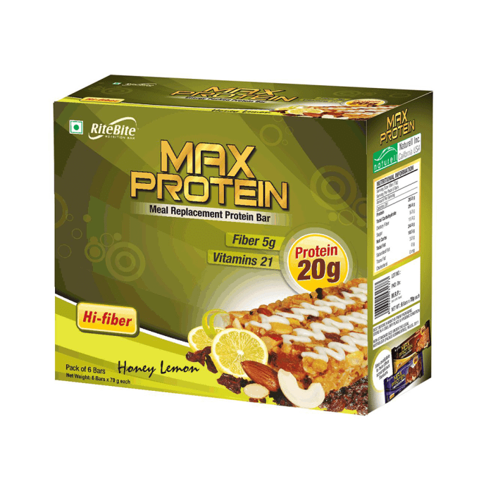 RiteBite Max Protein Bar Honey lemon