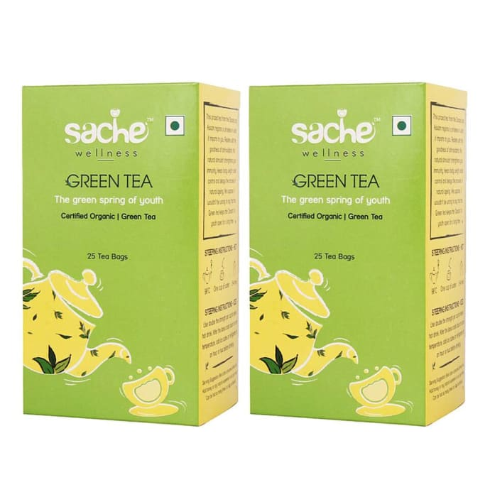 Sache Wellness Organic Green Tea Bag Pack of 2