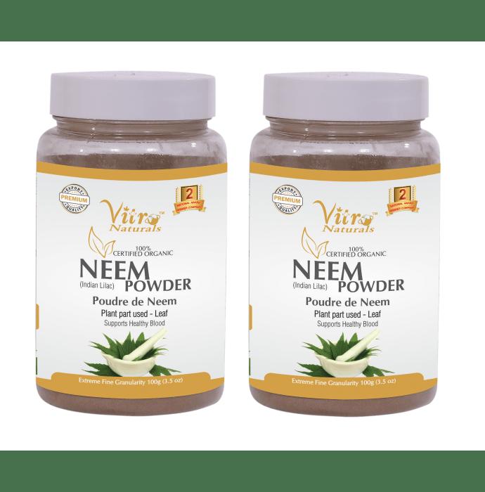 Vitro Naturals 100% Certified Organic Neem Powder Pack of 2