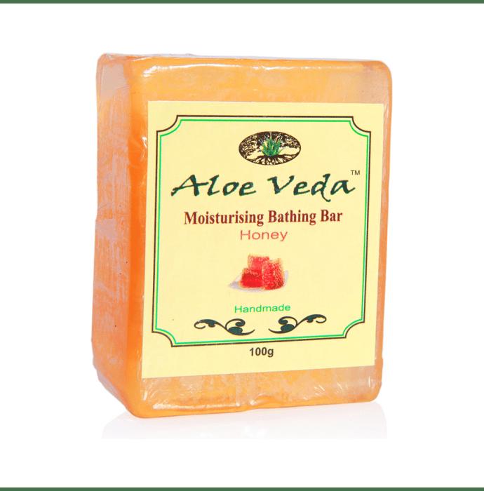 Aloe Veda Moisturising Bathing Bar Honey Pack of 2
