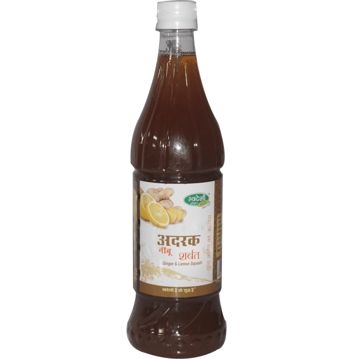 Swadeshi Ginger & Lemon Sharbat
