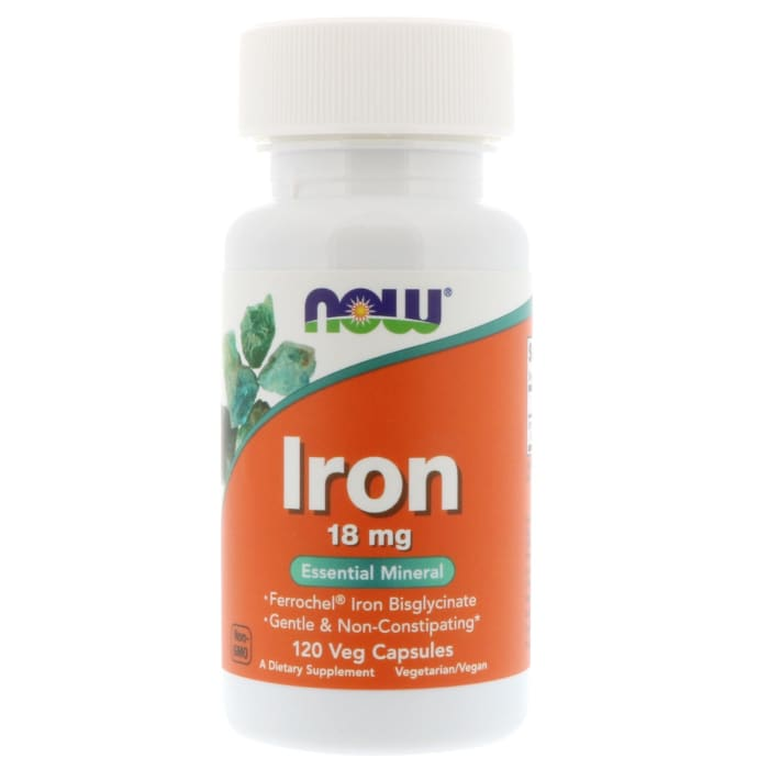 NOW Foods Iron 18mg Veg Capsule