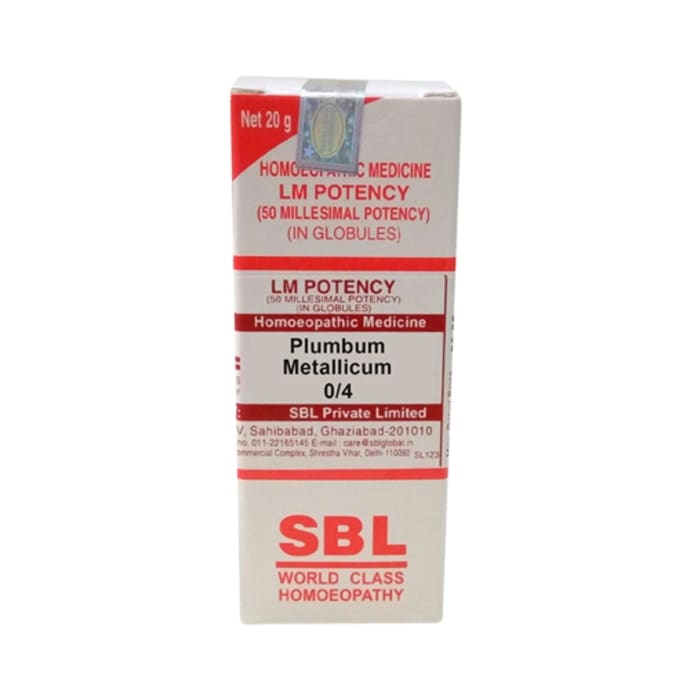 SBL Plumbum Metallicum 0/4 LM