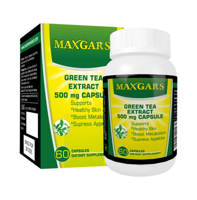 Maxgars Green Tea Extract 500mg Capsule