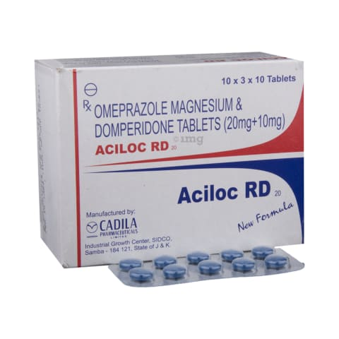 Aciloc Rd 20 Tablet View Uses Side Effects Price And Substitutes