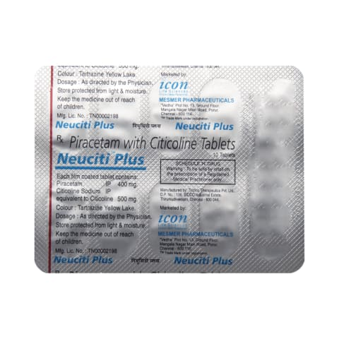 Neuciti Plus Tablet: View Uses, Side Effects, Price and Substitutes