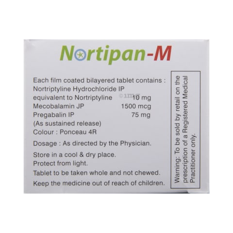Nortipan-M Tablet SR: View Uses, Side Effects, Price and