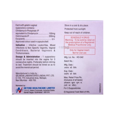 Imidil-C Vaginal Suppository: View Uses, Side Effects, Price