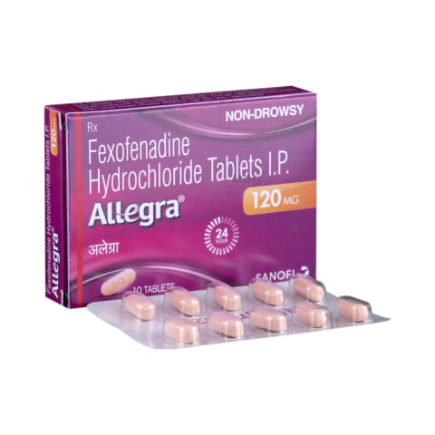 Allegra 120 mg Tablet: View Uses, Side Effects, Price and