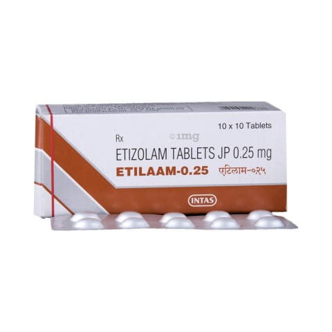 Etilaam 0 25 Tablet: View Uses, Side Effects, Price and Substitutes