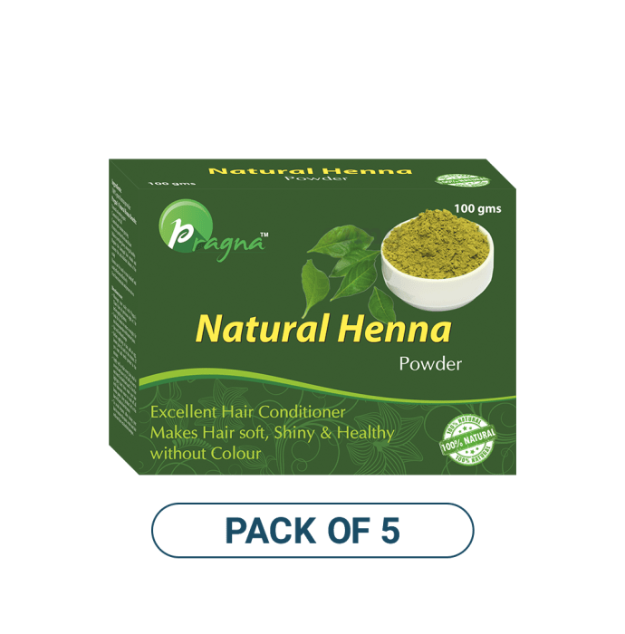 Pragna Natural Henna Powder Pack of 5