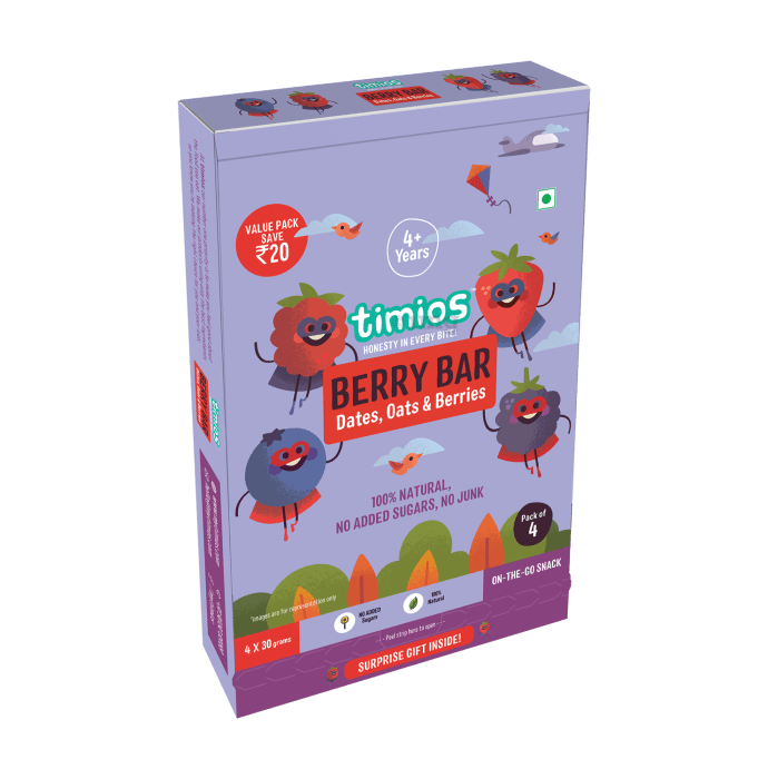 Timios Berry Bar 4+ Years Gift Pack of  Natural & Healthy Energy Bars
