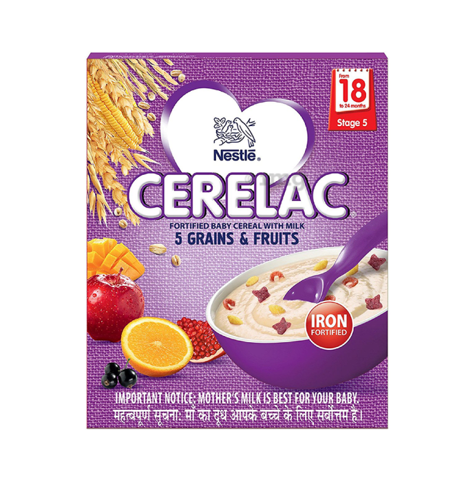 Nestle Cerelac 5 Grains & Fruits Stage 5