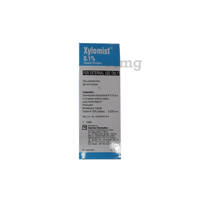 Xylomist 0.1% Nasal Drops