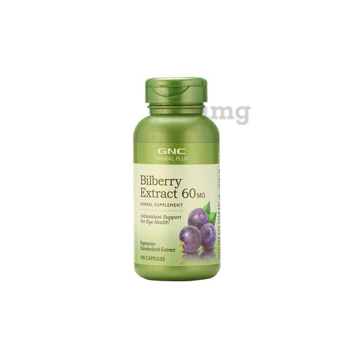 GNC Bilberry Extract 60mg Capsule