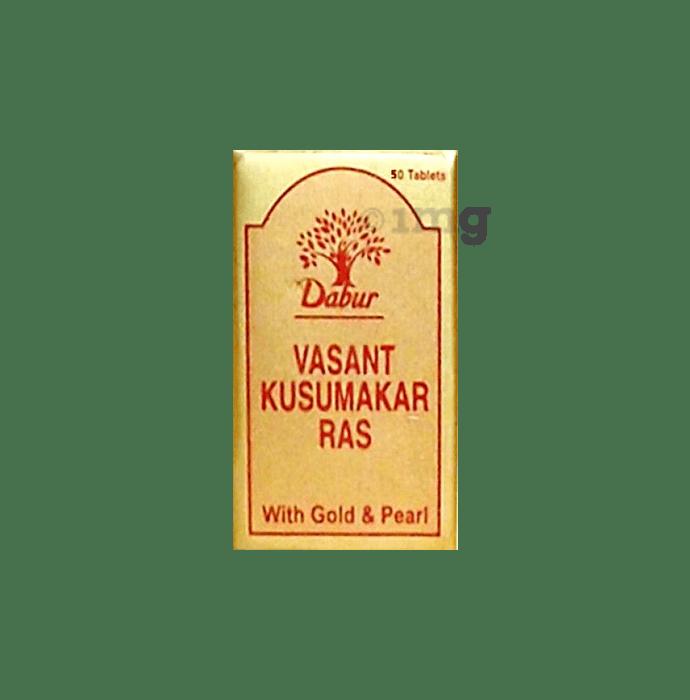 Dabur Vasant Kusumakar Ras with Gold & Pearl Tablet