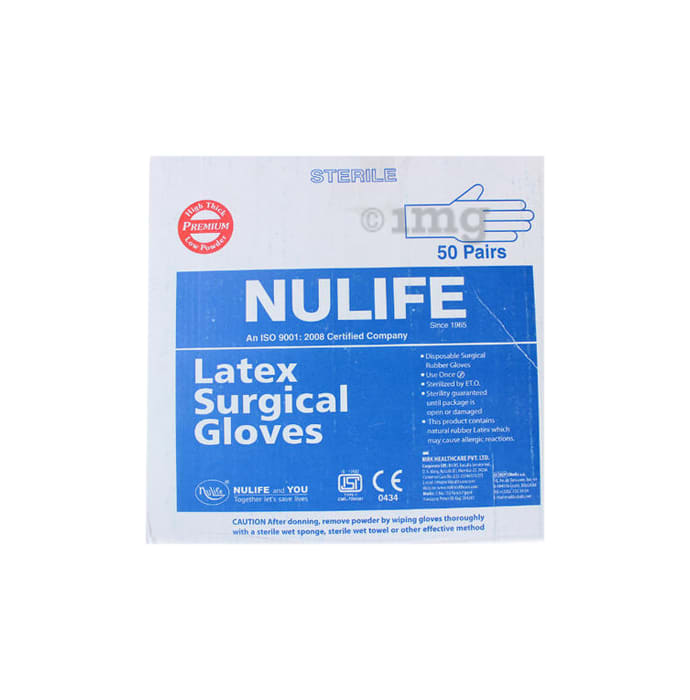 Nulife Sterile Powder Free Surgical Gloves 7.0