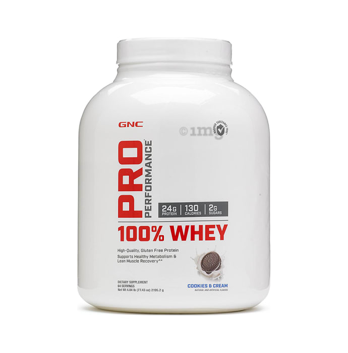 GNC Pro Performance 100% Whey Protein Powder Cookies & Cream
