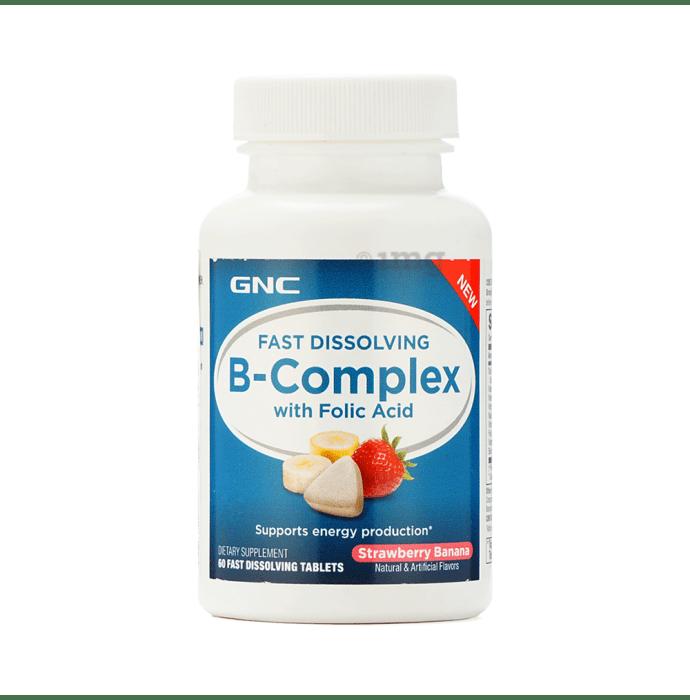 GNC B-Complex Fast Dissolving Tablet Strawberry Banana